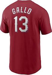 Nike Men's Texas Rangers Joey Gallo #13 Red T-Shirt product image