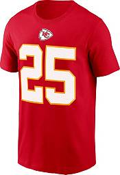Nike Men's Kansas City Chiefs Clyde Edwards-Helaire #25 Legend Red T-Shirt product image