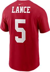 Nike San Francisco 49ers Trey Lance #5 Red T-Shirt product image