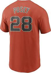 Nike Men's San Francisco Giants Buster Posey #28 Orange T-Shirt product image