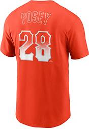 Nike Men's San Francisco Giants Buster Posey #28 Orange 2021 City Connect T-Shirt product image