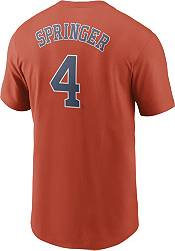 Nike Men's Houston Astros George Springer #4 Orange T-Shirt product image