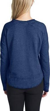 Concepts Sport Women's St. Louis Blues Surge Navy Crew Neck Sweatshirt product image
