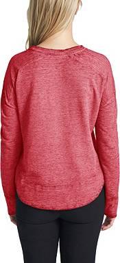 Concepts Sport Women's Chicago Blackhawks Surge Red Crew Neck Sweatshirt product image