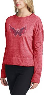 Concepts Sport Women's Washington Capitals Surge Red Crew Neck Sweatshirt product image