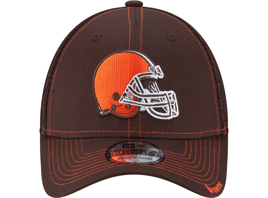 1846127f New Era Men's Cleveland Browns 39Thirty Neo Brown Stretch Fit Hat