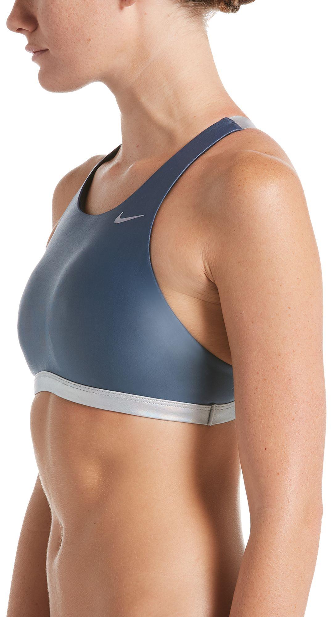 98a324e70054a Nike Women's Flash Bonded Fastback Bikini Top