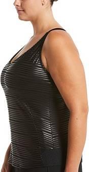 Nike Women's Plus Size 6:1 Shine Stripe Crossback Tankini Top product image