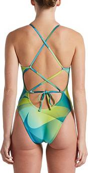 Nike Women's Hydrastrong Spectrum Lace Up Tie Back One Piece Swimsuit product image