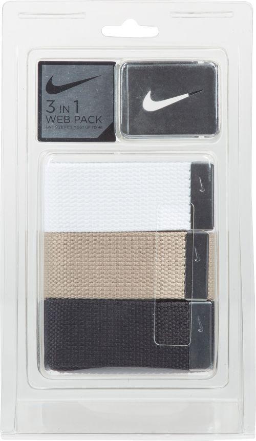 Nike Men s Web Golf Belt 3-Pack  94a188f62dd98