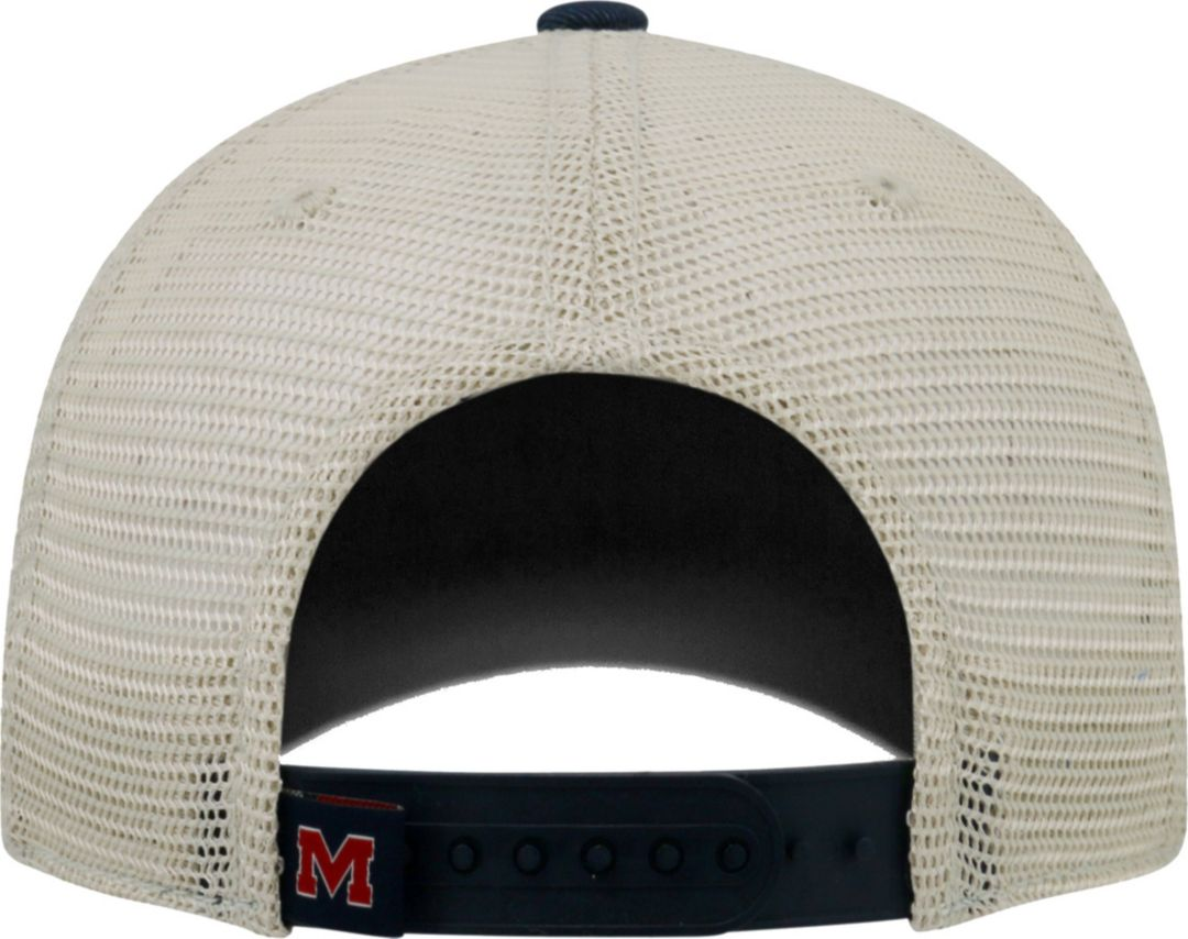 43646649b Top of the World Men's Ole Miss Rebels Blue/White/Red Off Road Adjustable  Hat