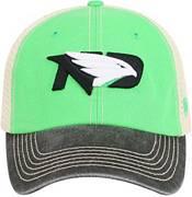 Top of the World Men's North Dakota Fighting Hawks Green/White Off Road Adjustable Hat product image