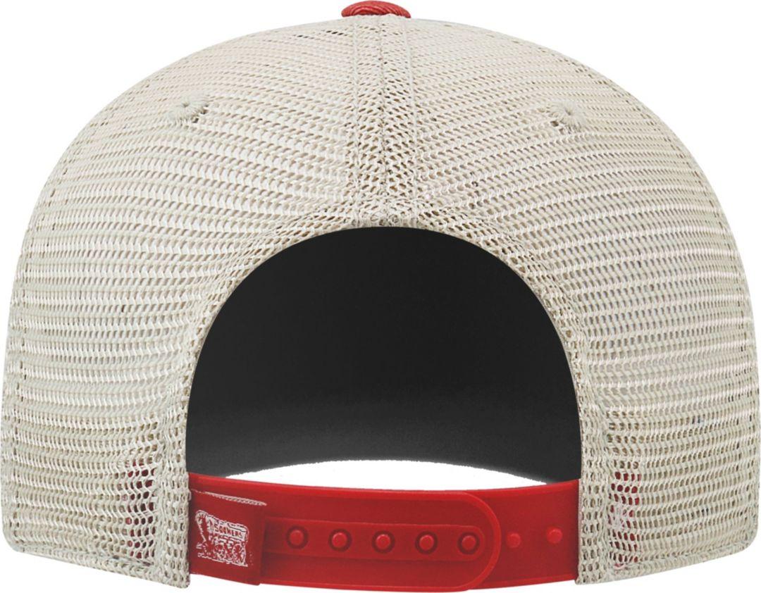 huge selection of 8452d f8845 Top of the World Men s Oklahoma Sooners Crimson Cream Grey Off Road  Adjustable Hat