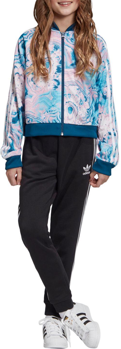 d97ffadc994 adidas Originals Girls' Marble Cropped Superstar Track Jacket ...