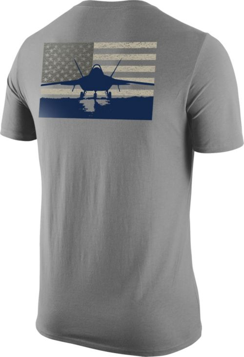 sports shoes 37c78 f4c28 Nike United States Air Force Grey Fighter Jet Short Sleeve T-Shirt ...