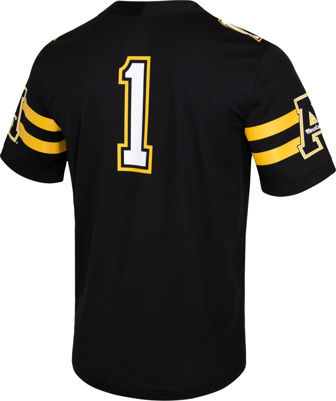 new arrival 9f831 25912 Nike Men's Appalachian State Mountaineers #1 Dri-FIT Game Football Black  Jersey
