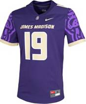 Nike Men's James Madison Dukes #19 Purple Dri-FIT Game Football Jersey product image