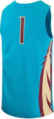 Nike Men's Florida State Seminoles #1 Turquoise Replica Basketball Jersey product image