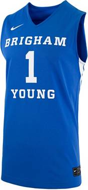 Nike Men's BYU Cougars #1 Blue Replica Basketball Jersey product image