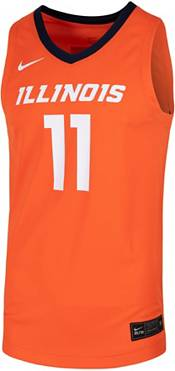 Nike Men's Illinois Fighting Illini #11 Orange Replica Basketball Jersey product image