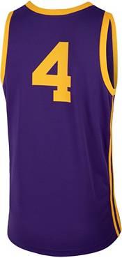 Nike Men's LSU Tigers #4 Purple Replica Basketball Jersey product image