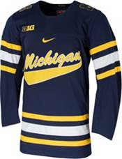 Nike Men's Michigan Wolverines Blue Replica Hockey Jersey product image