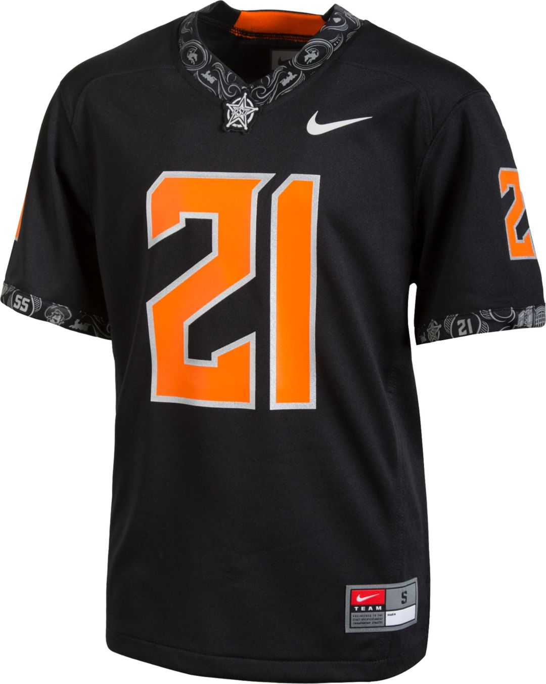 official photos 9971d ec15c Nike Youth Oklahoma State Cowboys #21 Replica Football Black Jersey