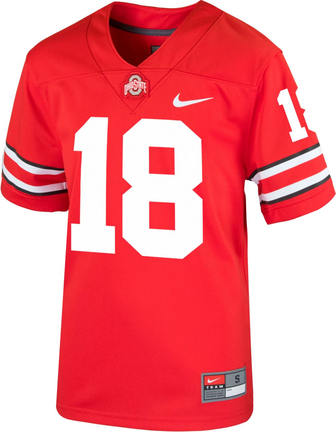 newest collection 1e8bc ab739 Nike Youth Ohio State Buckeyes #18 Scarlet Game Football Jersey