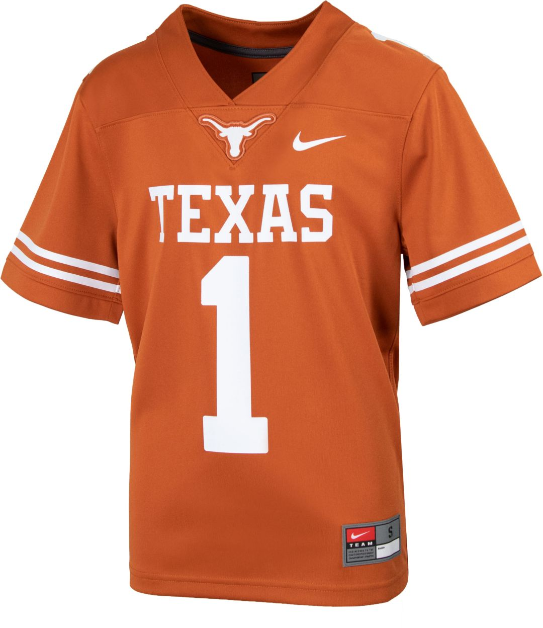 uk availability a8989 2a657 Nike Youth Texas Longhorns #1 Burnt Orange Replica Football Jersey
