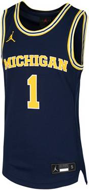 Jordan Youth Michigan Wolverines #1 Blue Replica Basketball Jersey product image