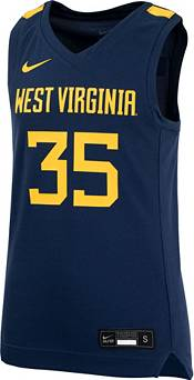 Nike Youth West Virginia Mountaineers #35 Blue Replica Basketball Jersey product image