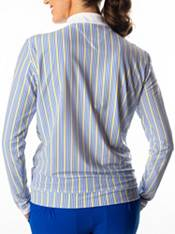 SwingDish Women's Stripe Boyfriend ¼-Zip Golf Pullover product image