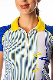 SwingDish Women's Grace Striped Short Sleeve Golf Polo product image