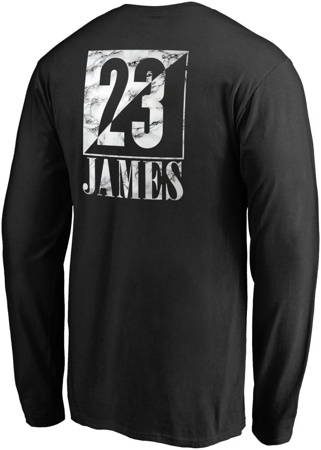 cf1f9abc NBA Men's Los Angeles Lakers LeBron James Black Long Sleeve Shirt ...