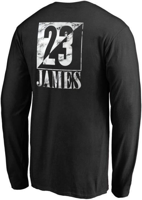 de84e9be15d NBA Men s Los Angeles Lakers LeBron James Black Long Sleeve Shirt.  noImageFound. Previous. 1. 2. 3