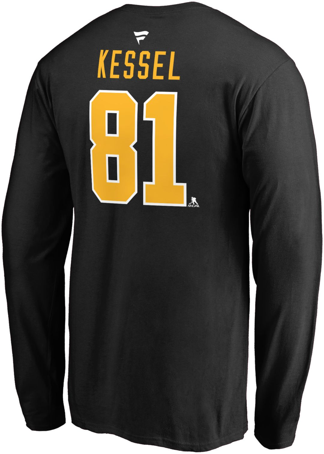 sale retailer 53514 ab5e0 NHL Men's Pittsburgh Penguins Phil Kessel #81 Black Long Sleeve Player Shirt