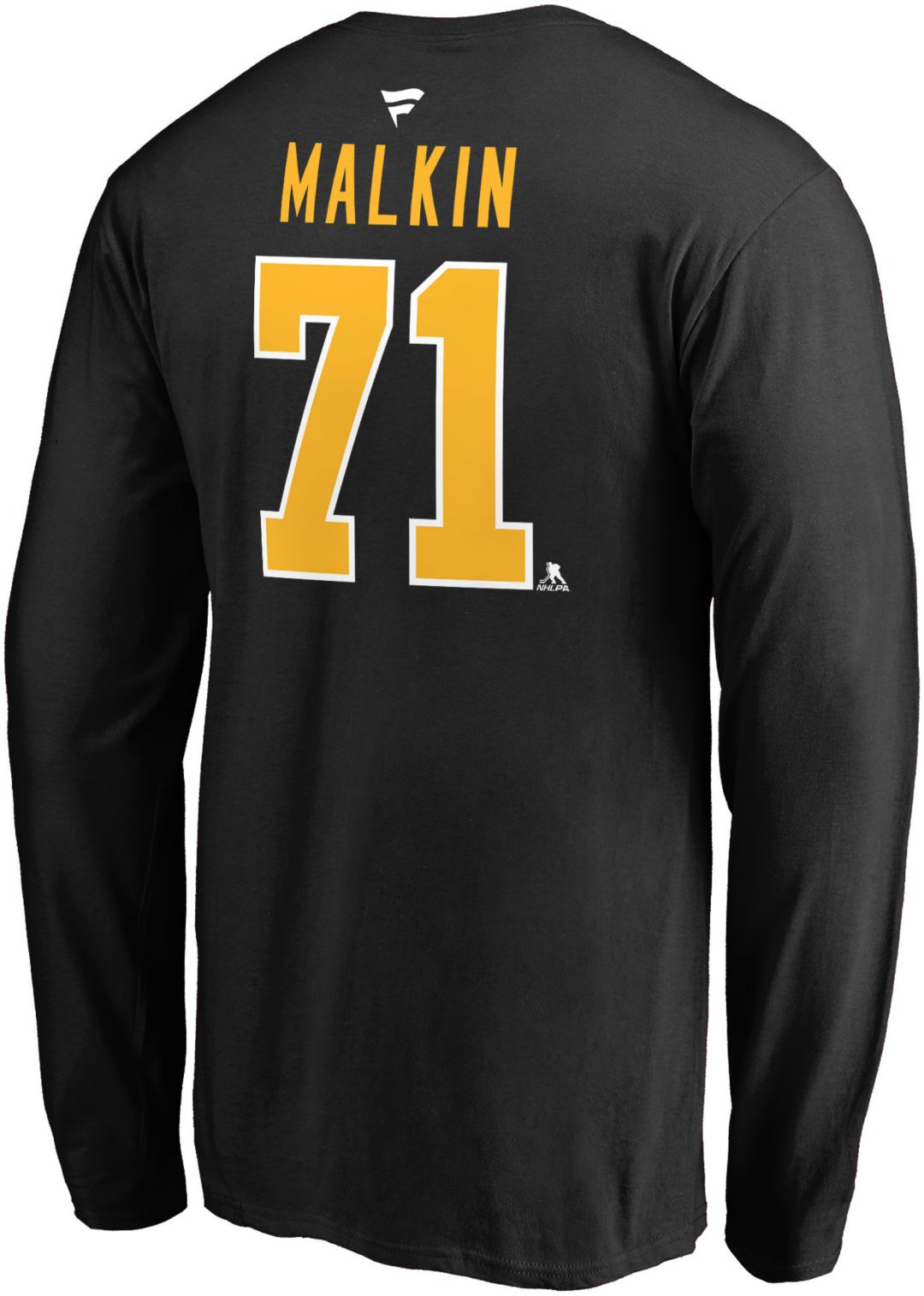 online store fc55e f62ce NHL Men's Pittsburgh Penguins Evgeni Malkin #71 Black Long Sleeve Player  Shirt