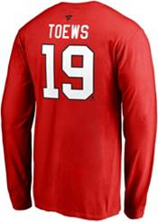 NHL Men's Chicago Blackhawks Jonathan Toews #19 Red Long Sleeve Player Shirt product image
