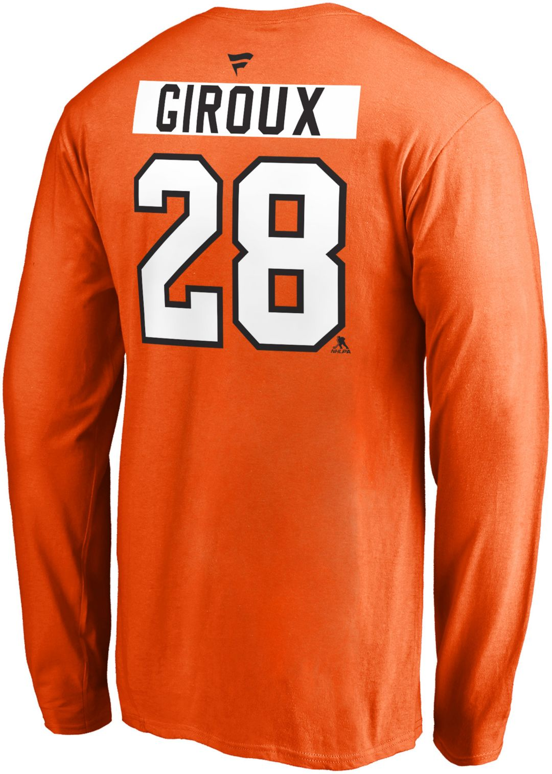 hot sales afb55 83d86 NHL Men's Philadelphia Flyers Claude Giroux #28 Orange Long Sleeve Player  Shirt
