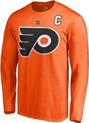 NHL Men's Philadelphia Flyers Claude Giroux #28 Orange Long Sleeve Player Shirt product image