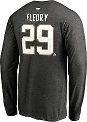 NHL Men's Vegas Golden Knights Marc-Andre Fleury #29 Heather Grey Long Sleeve Player Shirt product image