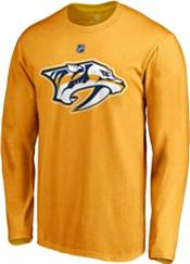 NHL Men's Nashville Predators Pekka Rinne #35 Gold Long Sleeve Player Shirt product image