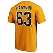 NHL Men's Boston Bruins Brad Marchand #63 Gold Player T-Shirt product image