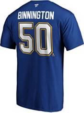 NHL Men's St. Louis Blues Jordan Binnington #50 Royal Player T-Shirt product image