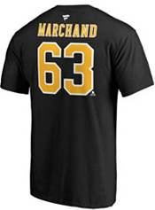 NHL Men's Boston Bruins Brad Marchand #63 Black Player T-Shirt product image