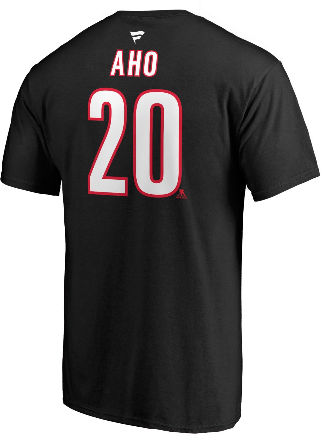 designer fashion 2dbac a9ec0 NHL Men's Carolina Hurricanes Sebastian Aho #20 Black Player T-Shirt