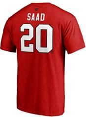 NHL Men's Chicago Blackhawks Brandon Saad #20 Red Player T-Shirt product image