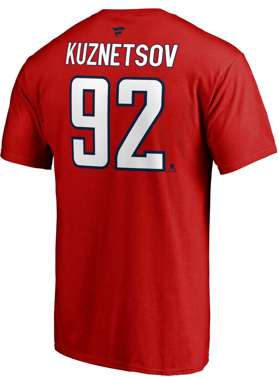 sneakers for cheap 686b8 60ff0 NHL Men's Washington Capitals Evgeny Kuznetsov #92 Red Player T-Shirt