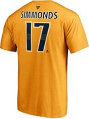 NHL Men's Nashville Predators Wayne Simmonds #17 Gold Player T-Shirt product image