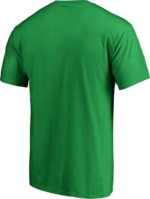 58471ff6c NHL Men's 2019 St. Patrick's Day Boston Bruins Logo Green T-Shirt.  noImageFound. Previous